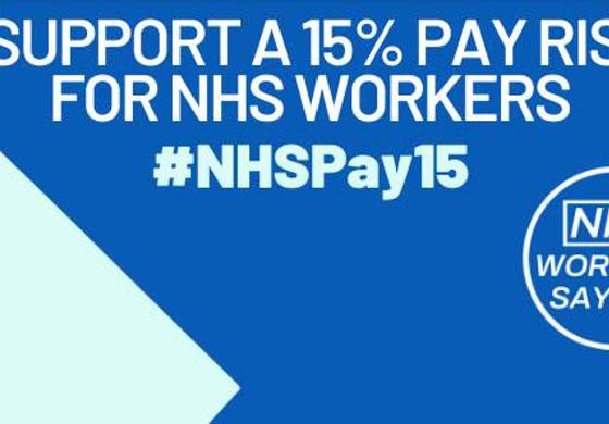 Cynnydd cyflog o 15% i nyrsys   15% pay rise for nurses